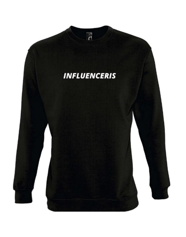 Džemperis su užrašu INFLUENCERIS