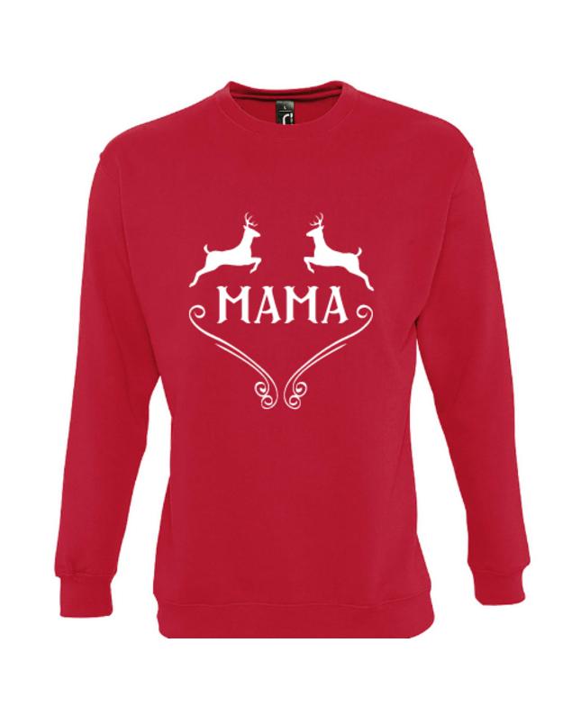 Kalėdinis džemperis su briedžiais ir užrašu MAMA