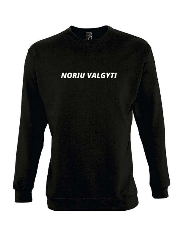 Džemperis su užrašu NORIU VALGYTI