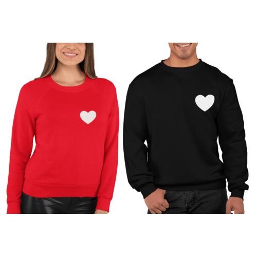 Džemperiai poroms su šviesą kaupiančia ir tamsoje spindinčia širdele