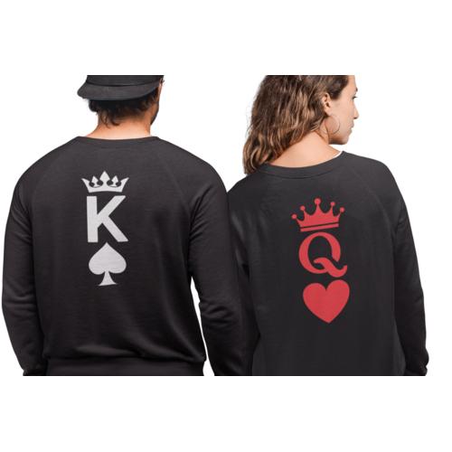 Džemperiai poroms su simboliu nugaroje  Q ir K