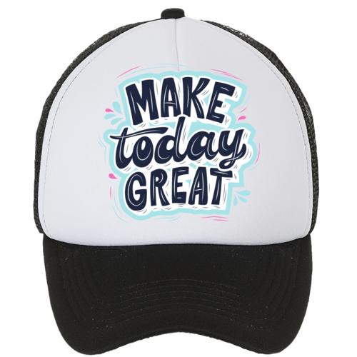 Kepuraitė su snapeliu - Make today great, juoda