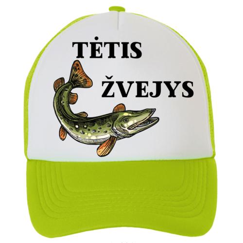 Kepuraitė su snapeliu - tėtis žvejys, žalia