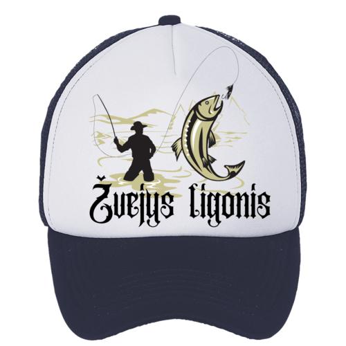 Kepuraitė su snapeliu - žvejys ligonis, tamsiai mėlyna