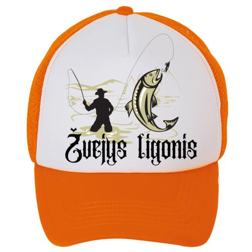 Kepuraitė su snapeliu - žvejys ligonis, orandžinė