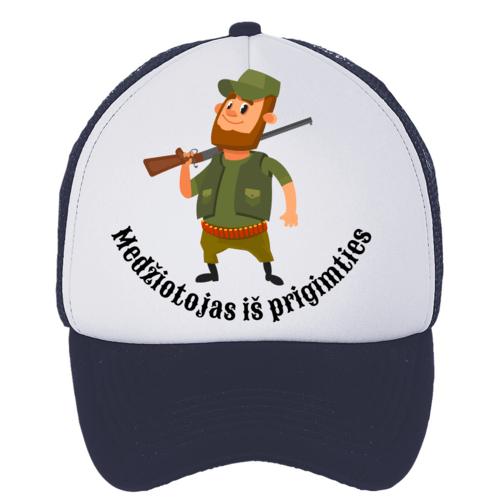 Kepuraitė su snapeliu - medžiotojas iš prigimties, tamsiai mėlyna