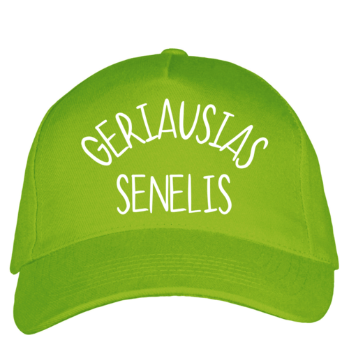 Kepuraitė su snapeliu - Geriausias Senelis, salotinė