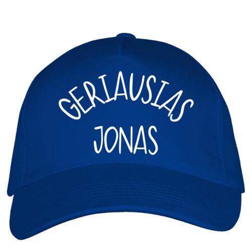 Kepuraitė su snapeliu - Geriausias Jonas, mėlyna