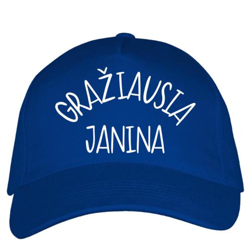 Kepuraitė su snapeliu - Gražiausia Janina, mėlyna