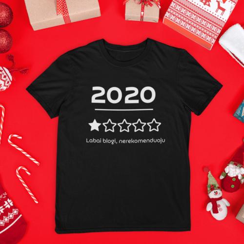 Kalėdiniai marškinėliai 2020 labai blogi, nerekomenduoju