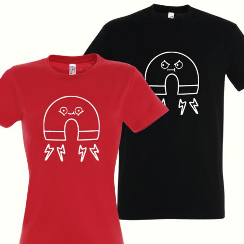 Marškinėliai porai su magnetukais