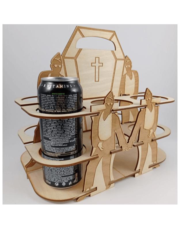 Medinė dovana alaus dėžė
