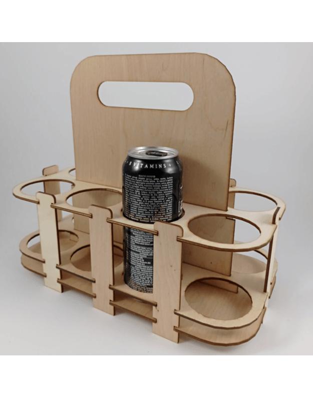 Medinė alaus dėžė 8 vietų