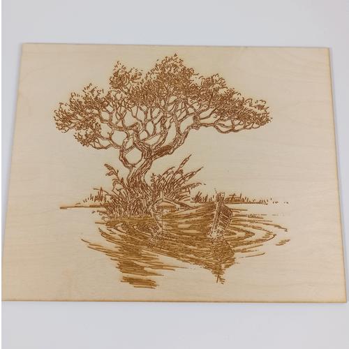 Medinis paveikslas Upė