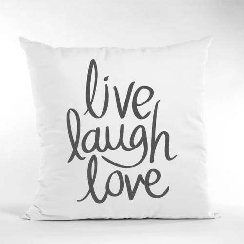 Dekoratyvinė pagalvė live, laugh, love