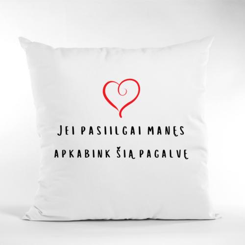 Dekoratyvinė pagalvė su širdele
