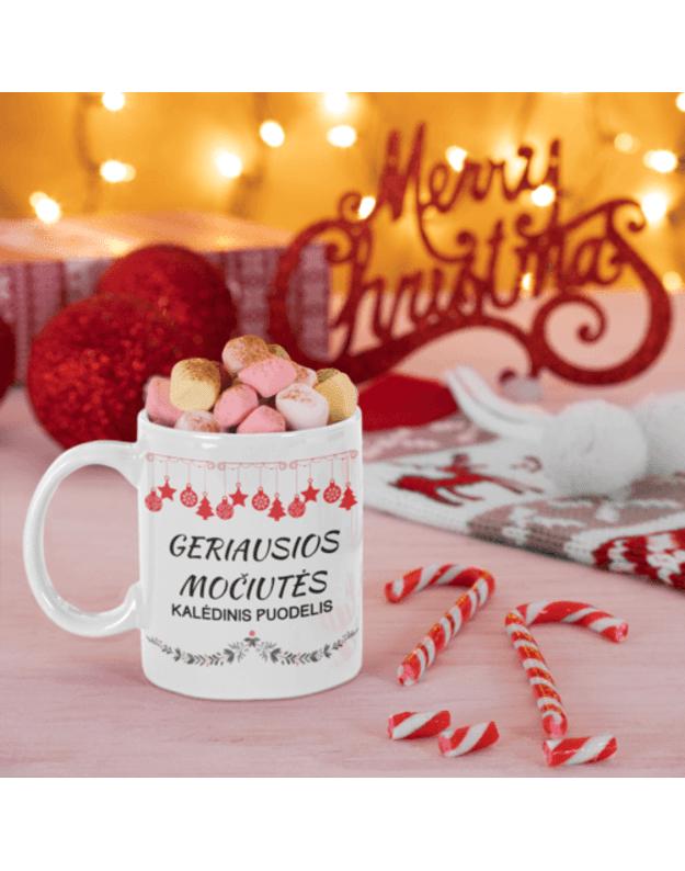 Puodelis Geriausios močiutės kalėdinis puodelis