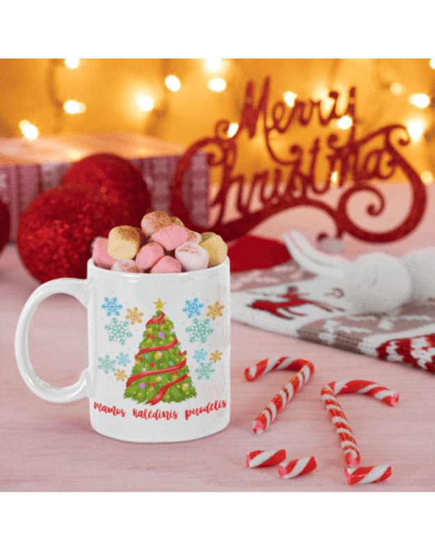 Puodelis Mamos kalėdinis puodelis