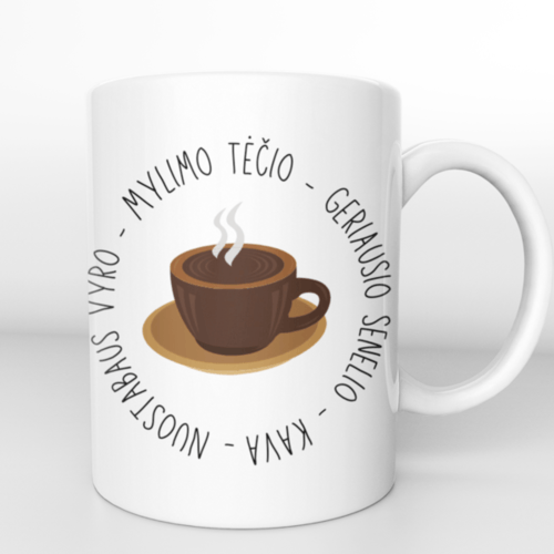 "Puodelis "" Vyro , tėčio, senelio kava """
