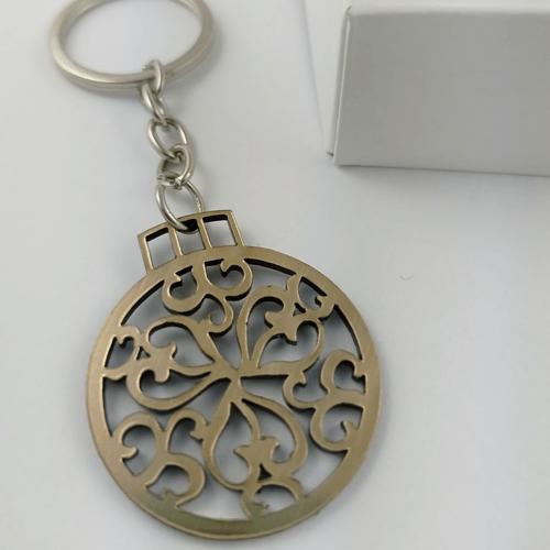 Graviruotas raktų pakabukas kalėdinis žaisliukas ornamentas
