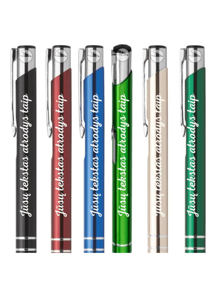 Metalinis, graviruotas rašiklis su jūsų norimu tekstu